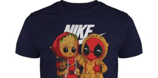 Baby Deadpool and Groot Nike unisex shirt