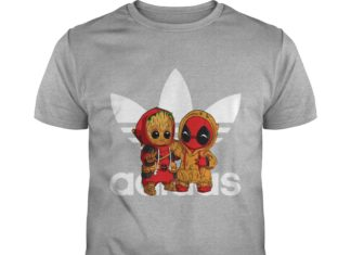 Baby Groot And Baby Deadpool Adidas shirt