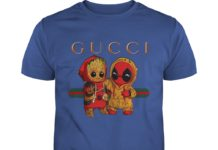 Baby Groot And Baby Deadpool Gucci shirt