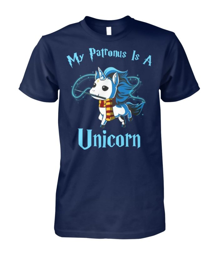 My patronus is a unicorn unisex cotton tee
