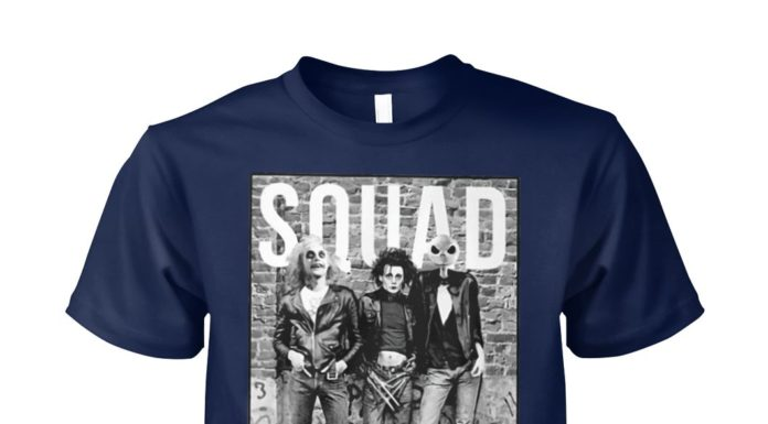 Beetlejuice Edward Scissorhands and Jack Skellington squad unisex cotton tee