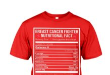 Breast cancer fighter nutritional facts shirt