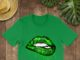Cannabis smoke weed get high love glitter lips shirt