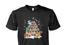 Cat christmas tree unisex cotton tee