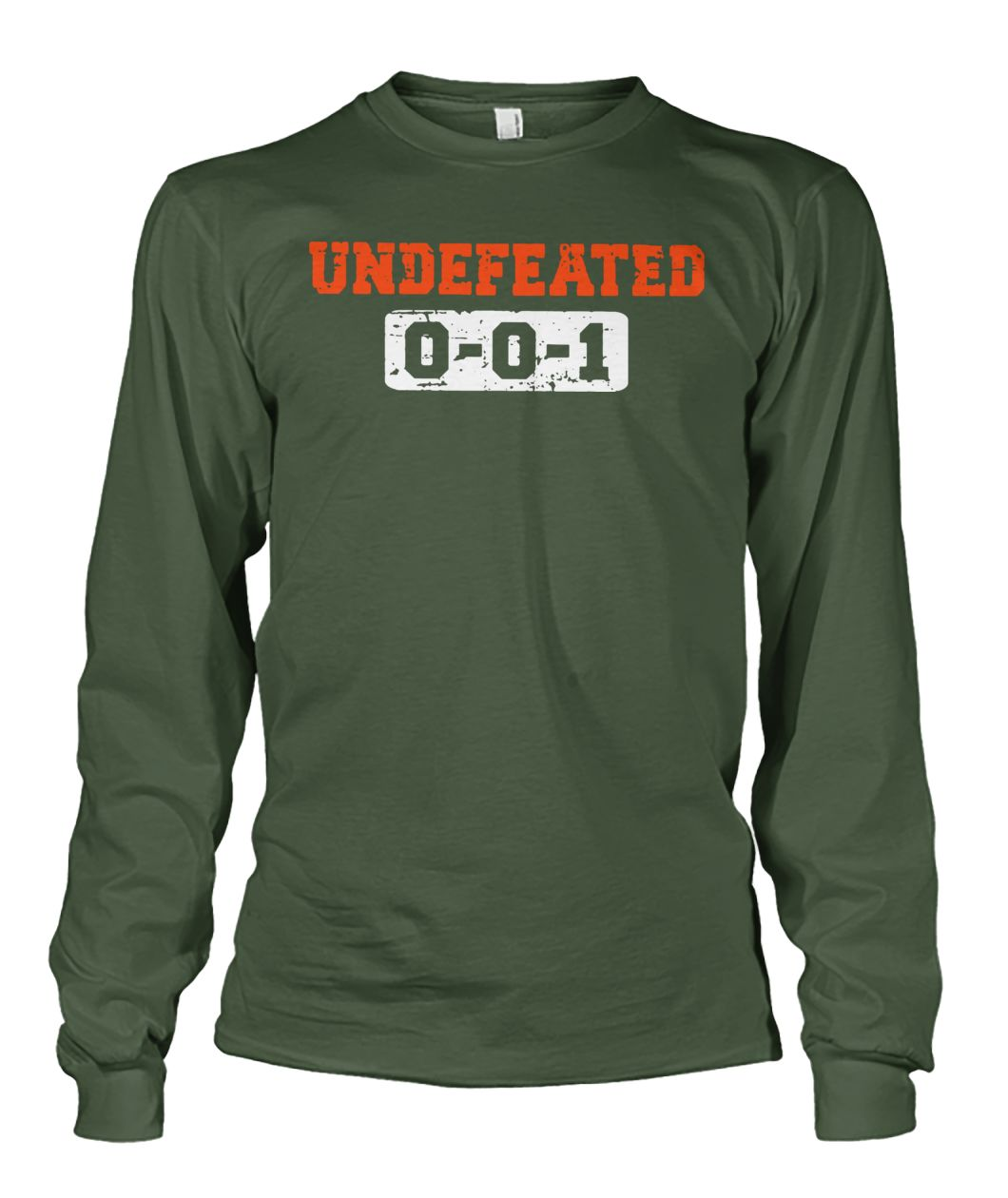 Cleveland browns undefeated 0-0-1 unisex long sleeve