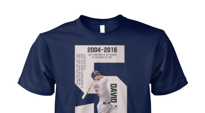 David Wright thank you for the memories 2004-2016 unisex cotton tee