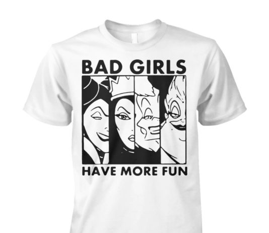 Disney Villains bad girls have more fun unisex cotton tee