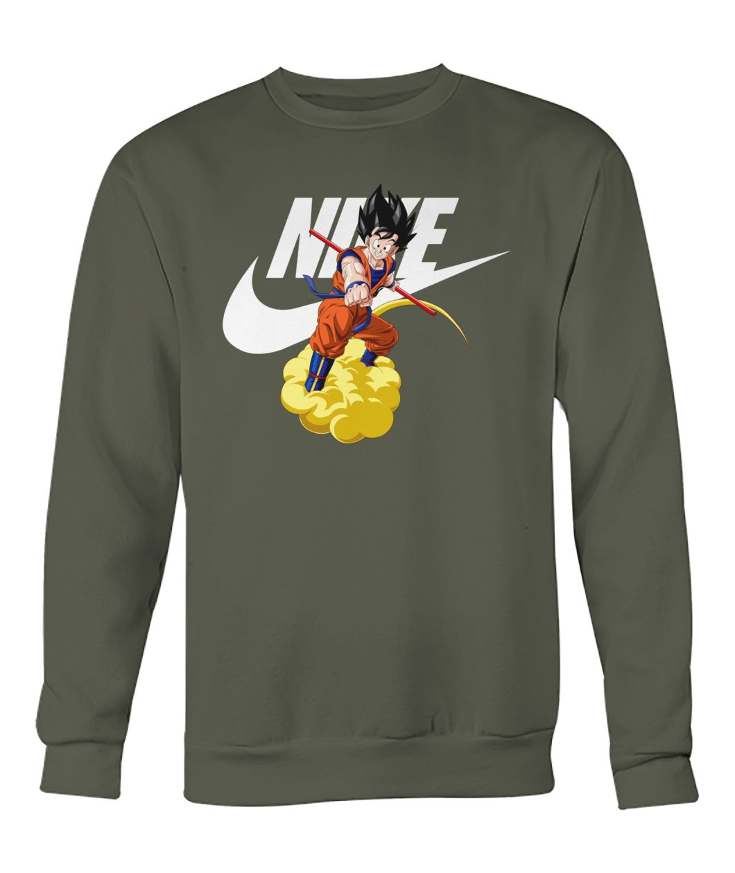 Dragon ball Songoku nike crew neck sweatshirt