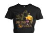Drink up bitches Halloween women crew shirt