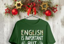 Floral English Is Important But Math Is Importanter shirt