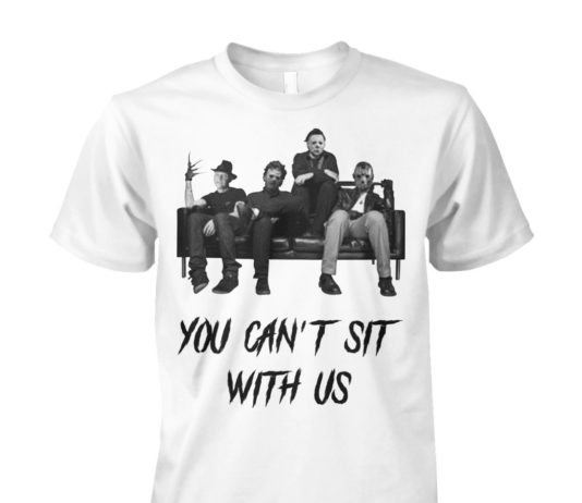 Freddy Jason Michael Myers And Leatherface you can't sit with us unisex cotton tee