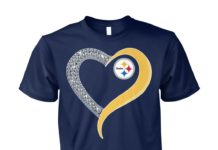 Glitter heart Pittsburgh Steelers unisex cotton tee