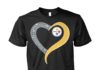 Glitter love heart Pittsburgh Steelers unisex shirt