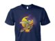 Halloween turtle witch unisex cotton tee