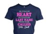 He stole my heart so I'm stole his last name mrs Smith women's crew tee