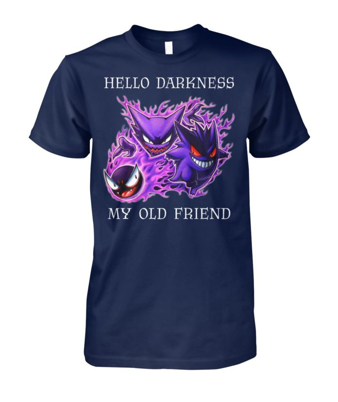 Hello darkness my old friend pokemon gengar amino unisex cotton tee