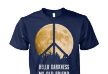 Hippie moon hello darkness my old friend unisex cotton tee