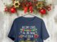 Holiday light falling snow hot cocoa Hallmark shirt