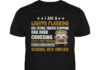 I am a light flashing cdl toting traffic stopping rail road school bus driver unisex shirt