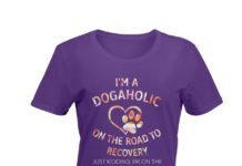 I'm a dogaholic on the road to recovery just kidding I'm on the road floral shirt