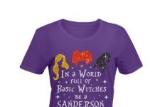 In a world where you can be anything be a Sanderson glitter shirt