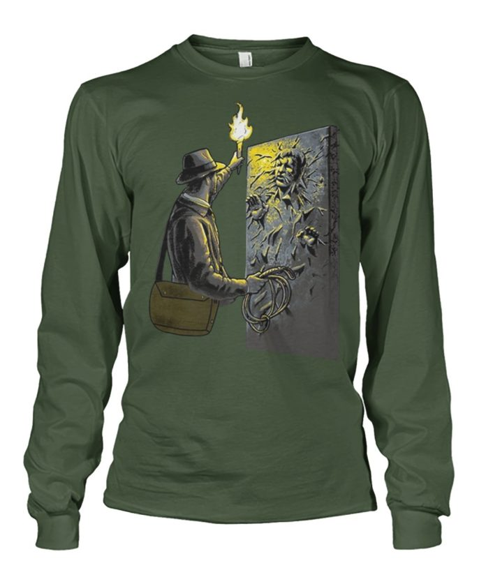 Indiana Jones meets Han Solo unisex long sleeve