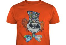 Jack Skellington Hatter Alice in Wonderland shirt