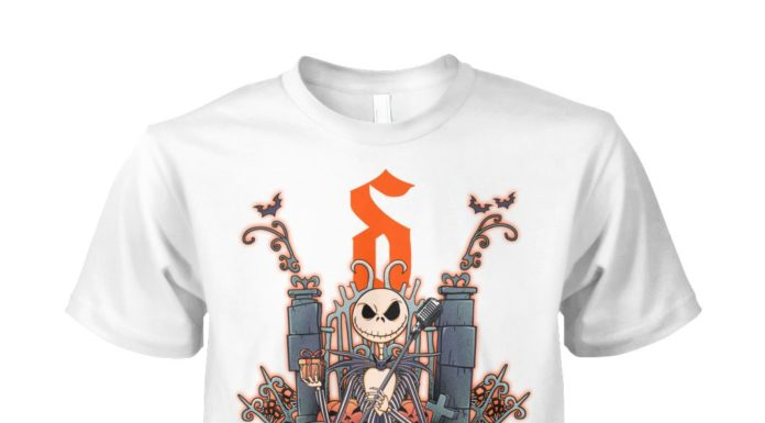 Jack Skellington Shine Down unisex cotton tee