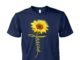 Jesus sunflower unisex cotton tee