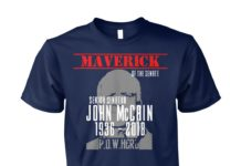 John McCain RIP 1936-2018 dark apparel American hero shirt