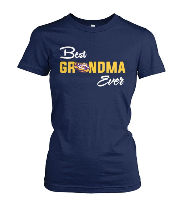 LSU Tigers best freakin' grandma ever women's crew tee
