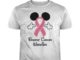 Mickey Mouse breast cancer warrior unisex shirt
