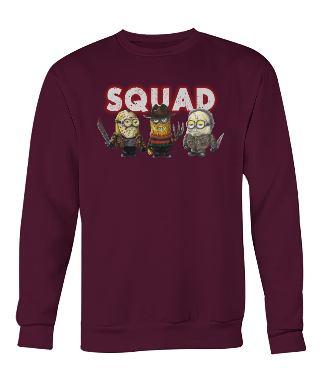 Minions the nightmare ends on halloween squad crew neck sweatshirt