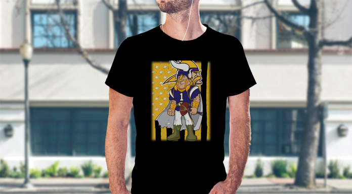 Minnesota Vikings mascot flag shirt