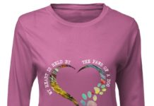 My heart is held by the paws of a dog shirt