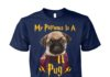 My patronus is a pug unisex cotton tee