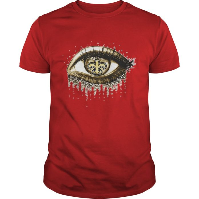 New orleans saints gold eyes glitter shirt