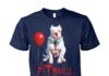 Pitbull IT clown halloween unisex cotton tee