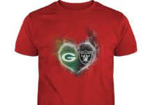 Raiders and Packers heart shirt