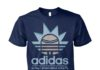 Rick and Morty adidas all day I dream about schwifty unisex cotton tee