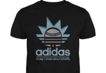 Rick and Morty adidas all day I dream about schwifty unisex shirt