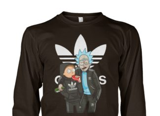Rick and Morty adidas unisex long sleeve