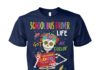 School bus driver life got me feelin' un poco loco unisex cotton tee