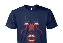 Screaming clown Pennywise shirt