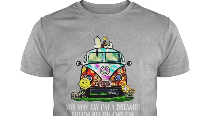 Snoopy Woodstock and Charlie Brown you may say I'm a dreamer but I'm not the only one shirt