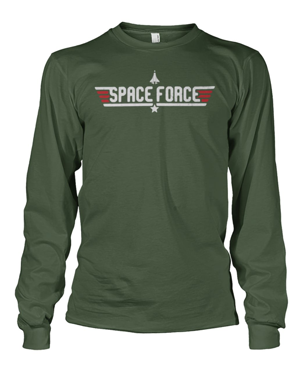 Space force fighter pilot unisex long sleeve