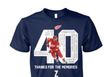 Thanks for the memories Henrik Zetterberg unisex cotton tee