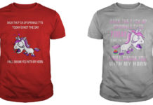 Unicorn Back the fuck up sprinkle tits today is not the day I will shank you with my horn shirt
