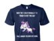 Unicorn back the fuck up sprinkle tits today is not the day unisex cotton tee