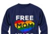 Rainbow color heart free mom hugs